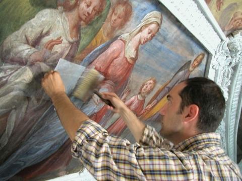 Dino Molinari Restauro e recupero di affreschi, tele e stucchi