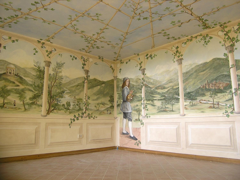 Il Cielo in una stanza: un trompe l'oeil su tutte le pareti