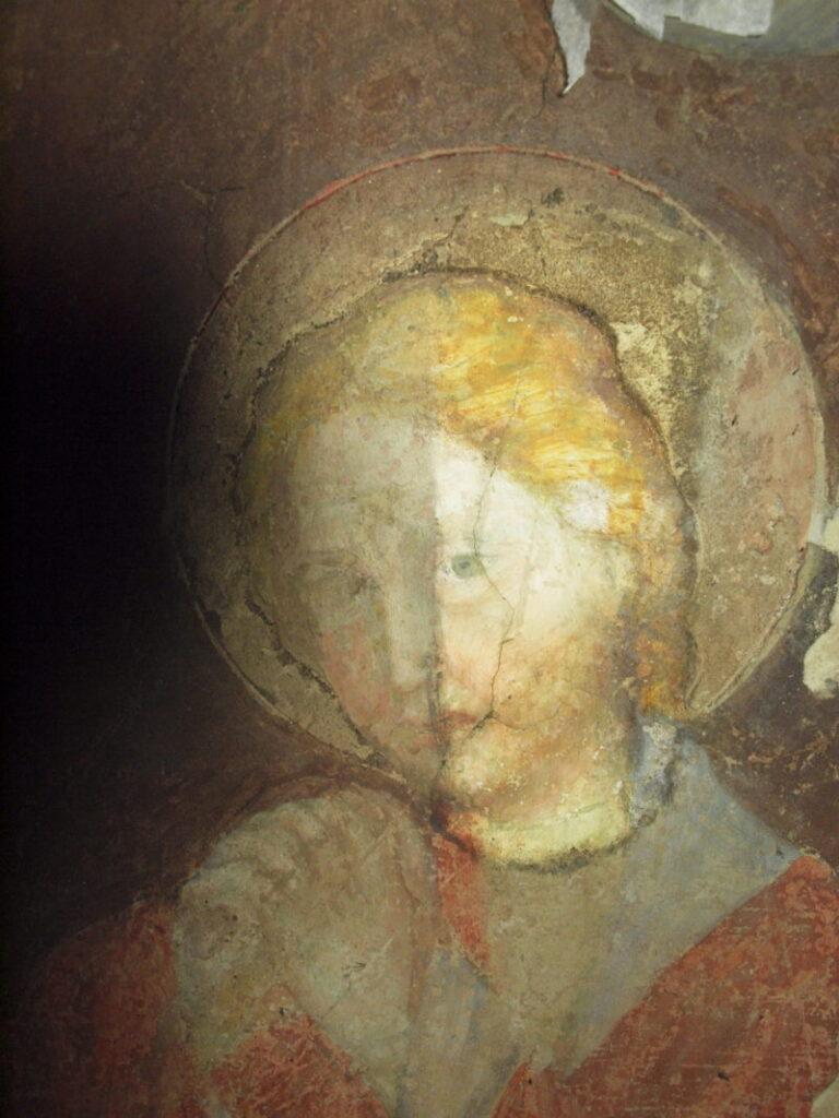 restauro degli affreschi prova di pulitura: 3 fase