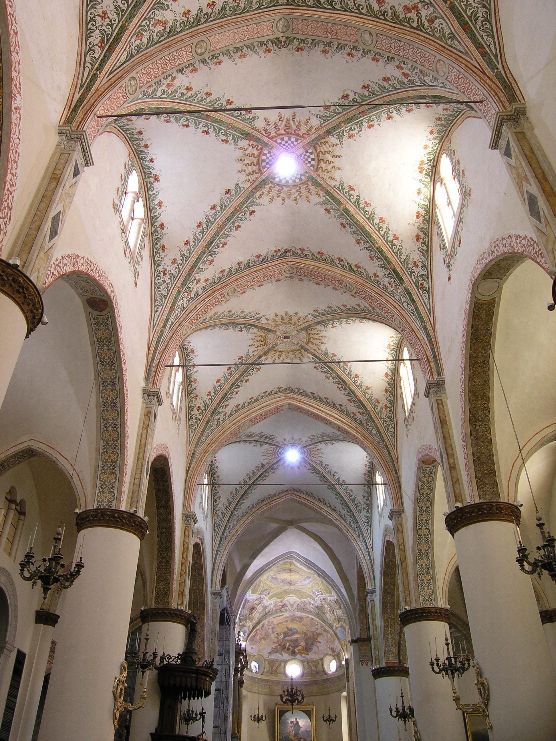 Il restauro degli affreschi nella basilica minore di santa - Decorazioni soffitto ...