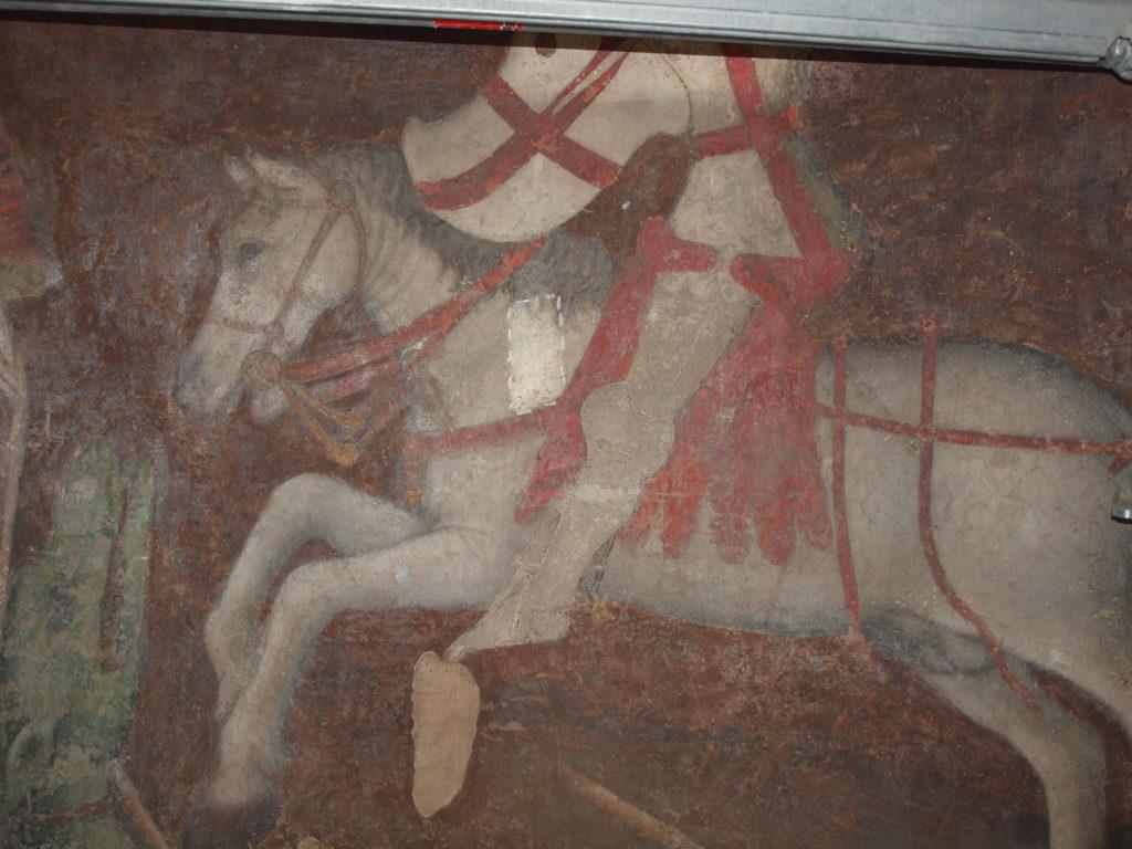 restauro degli affreschi prova di pulitura