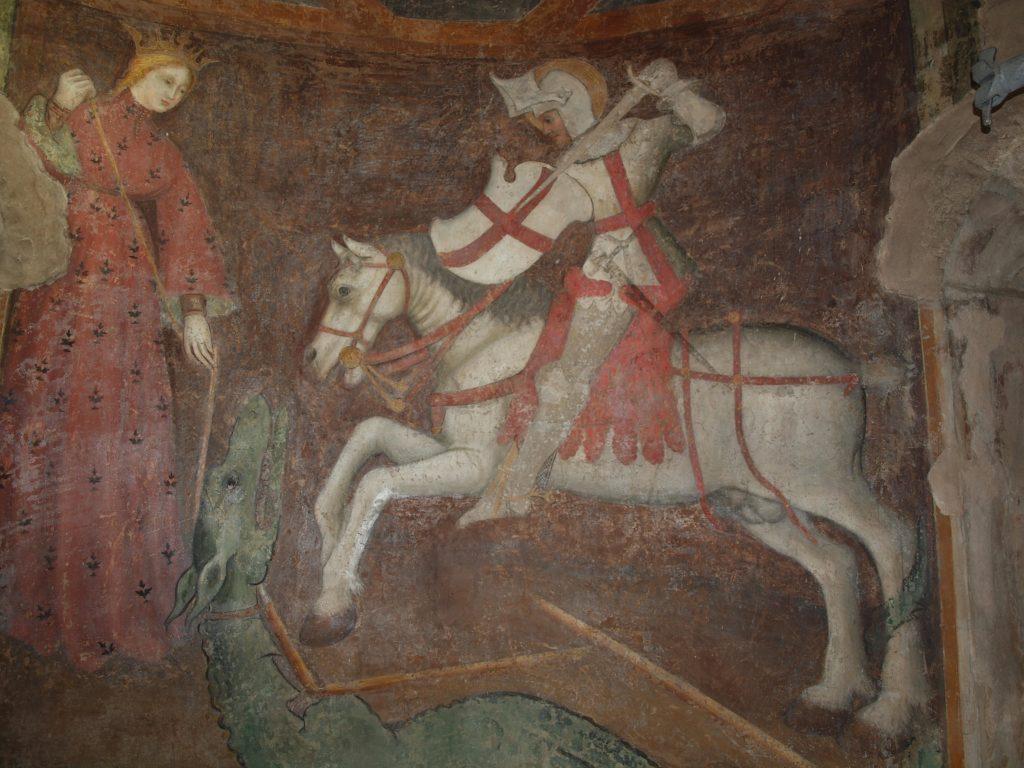 restauro degli affreschi San Giorgio dopo il restauro