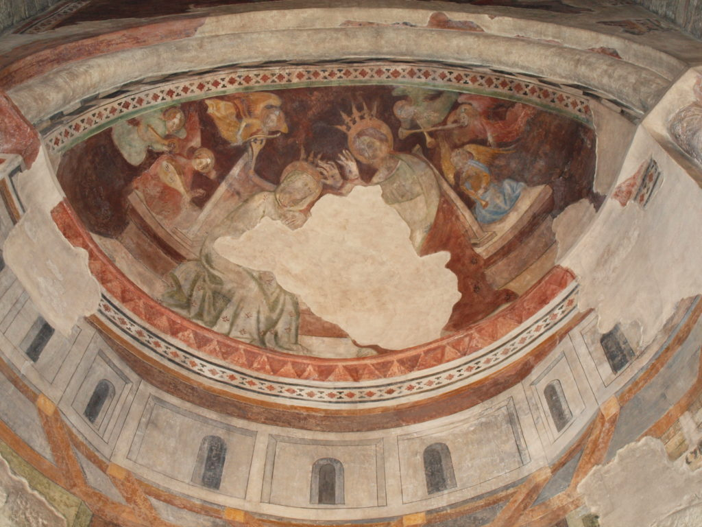 restauro degli affreschi zona absidale