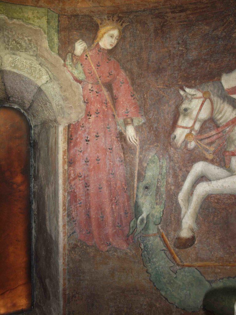 restauro degli affreschi particolare della principessa