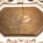 l'affresco della colomba prima del restauro