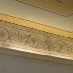 fascia decorativa realizzata a finto marmo