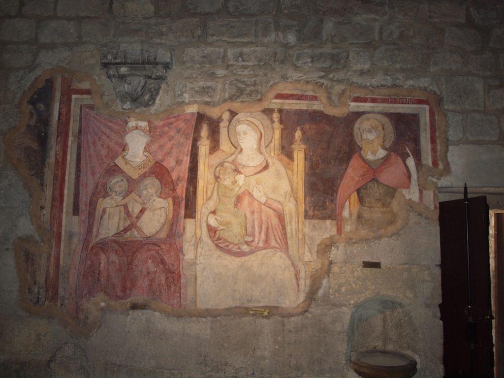 restauro degli affreschi madonna del latte dopo il restauro